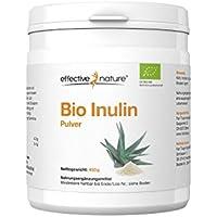 effective nature Bio Inulin Pulver zur Unterstützung der Darmflora - Aus der Agave gewonnen - 450 g
