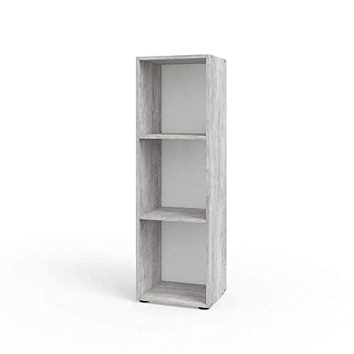 VICCO Bücherregal Beton Optik Regal Holzregal Schrank Wandregal Büroregal Aktenregal