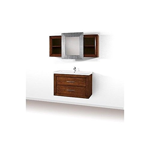 Estea mobili - mobile bagno arredo legno massello arte povera classico con pensile e specchio - 121090036722 - come foto