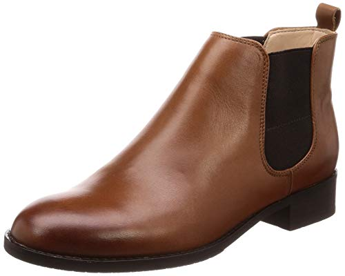 Clarks Damen Netley Ella Biker Boots Braun (Tan Leather) 37 EU