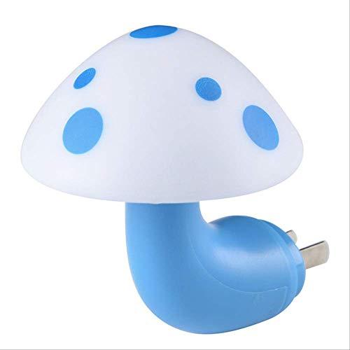 ZMDA Nachtlicht Geschenke Kreativ Prinzessin Del Feuer Nachtlicht Del Fungo Del Sensor Mini für die Innenstecker weiß blau