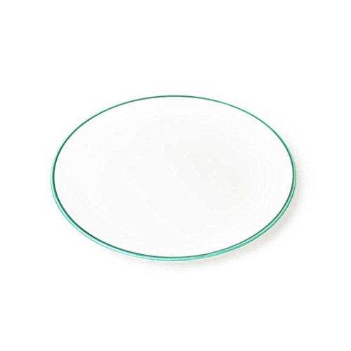 Gmundner Keramik Manufaktur 0190TFCU28 grüner Rand Speiseteller Cup, Durchmesser 28 cm - Grüner Rand