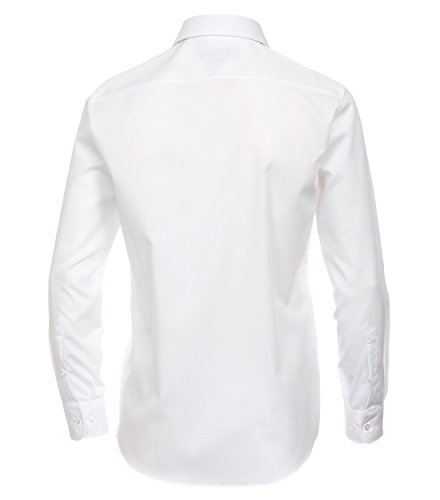 CASAMODA Herren Modern Fit Business Hemd 006560 Weiß - uni nah (0)