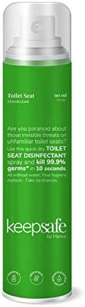 KeepSafe by Marico Toilet Seat Disinfectant Spray, Travel-Friendly Pack, 90 ml
