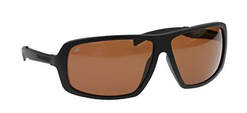Serengeti occhiali da sole modello alassio nero opaco, driver polarizzato fotocromatiche lenti in vetro, dimensione grande