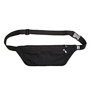 Bauchtasche flach, rip stop schwarz, Hip bag, shoulder bag, fanny pack, Hüfttasche, belt bag, sac banane, cross bag