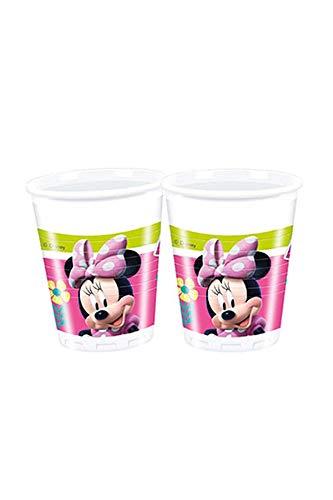 8 Party-Becher * MINNIE - HAPPY HELPERS * für Kindergeburtstag und Motto-Party // Cups Maus Mouse (Mouse-kunststoff-cups Minnie)