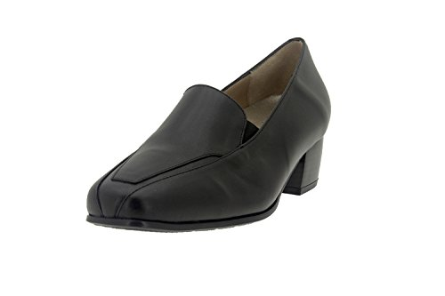 Komfort Damenlederschuh Piesanto 7112 mokassin schuhe bequem breit Schwarz