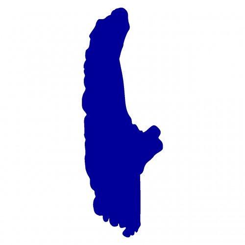 Ammersee Aufkleber in 8 Größen und 25 Farben (3,5x10cm brillantblau)