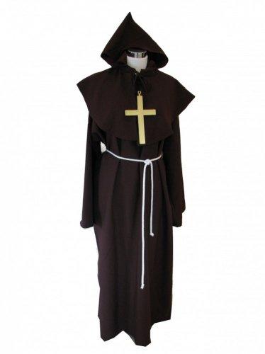 Priester-Kostüm Pater Ralf - Top Qualität, Größe:XL (Qualitäts Erwachsene Kostüme)