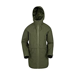 31x MesFDzL. SS300  - Mountain Warehouse Rain Drops Womens Long Jacket - Waterpoof Rain Coat, Taped Seams Ladies Coat, Breathable, Lightweight -for Travelling, Camping & Walking