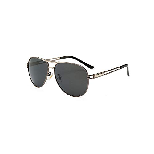 TOOSD Sonnenbrille, Polarisierte Metallgestell Herren Schutz Brille Fahren Flieger-Sonnenbrille Einheitsgröße Objektiv Sonnenbrille,B