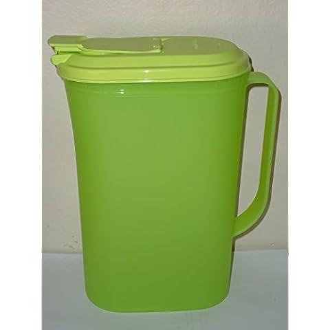 Tupperware 2 Qt Slim Refridgerator Pitcher Wasabi Green by