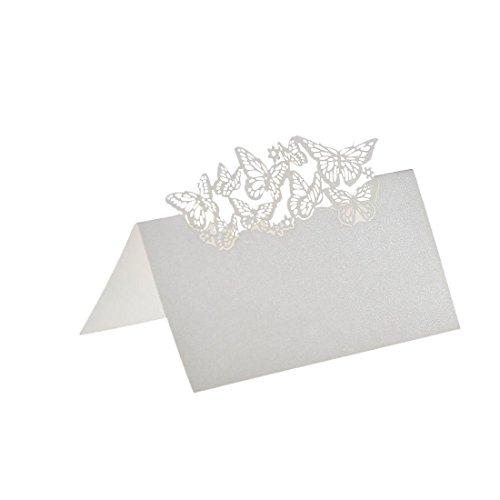 ser Geschnitten Namen Platz Karten Hochzeitsgast Tischkarten Weiss (Platz-karte)