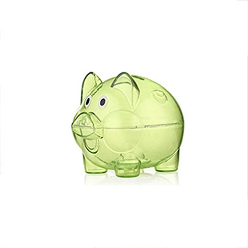 Dpolrs Transparentes Monedas Caja plástica Caja Ahorro