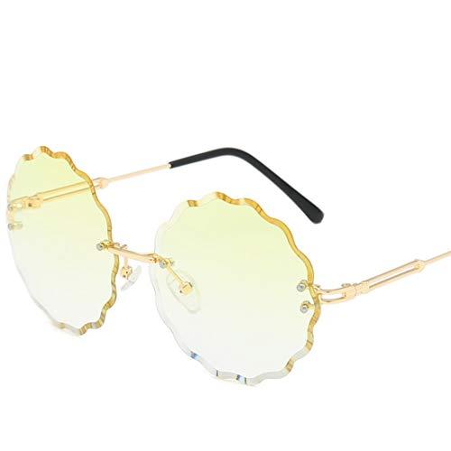 Kamiwwso Blume geformt Bonbonfarbenen Sonnenbrillen für Männer Frauen Glas für Shopping-Party (Color : D)