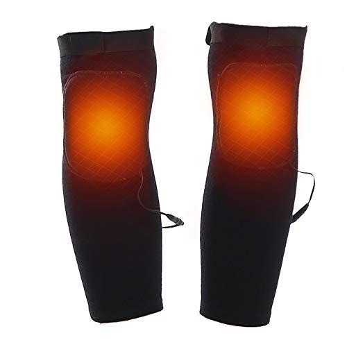 XHHWZB Sport Baumwolle Beheizte Knie Wraps Knie Hosenträger Beine Unterstützt Thermische Atmungsaktive Elektrische Therapeutische Heizkissen 3.7V 2000 Mah Batterie (größe : L) -