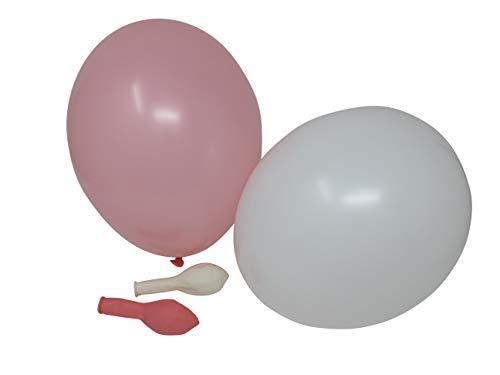 Luftballons | rosa, weiß, 50 Stück - 4