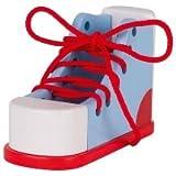 Goki Chaussure à Lacer Multicolore, 58784, Bleu/Rouge/Blanc