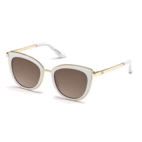 Guess Unisex-Erwachsene GU7491 21G 52 Sonnenbrille, Weiß (Bianco/Marrone Specchiato), -