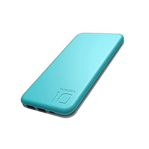 Baokudi 10000mAh Powerbank, Kompakte Externer Akku, Tragbar Handy Akku mit 2 Ports für iPhone X / 8/8 Plus / 7 / 6s / 6, iPad Air 2 Mini 3Plus,Samsung Galaxy S8,Huawei und Weitere Smartphones- Blau