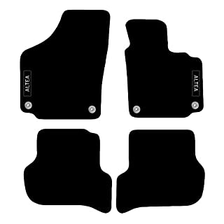 Seat Altea 2009 to 2011 Tailored Carpet Car Floor Mats with logo 4 Clips