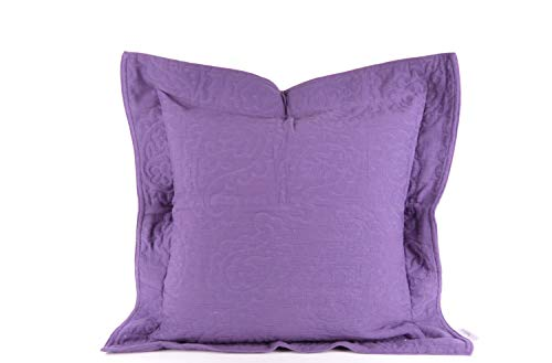 Heine 2er Pack Deko Kissenhülle Couch Kissenbezug mit Stehsaum violett, Größe:50 x 50 cm