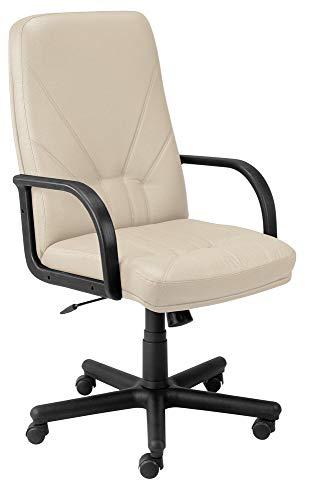 Bürostuhl Modell Manager Bürostuhl mit hoher Rückenlehne, mit Kunstlederbezug. beige