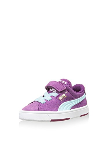 Puma 359452, Chaussures Premiers pas mixte bébé Rose (Grape Juice/Clearwater)