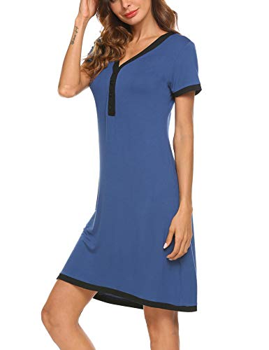1fc6a17838ce UNibelle Camicia da Notte Premaman Vestito da maternità Donna Abito di  maternità Abito Scollo a V ...