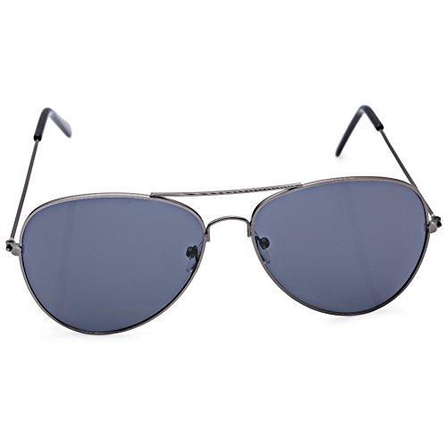 Uomo Donna Unisex Occhiali da sole Cool estate in metallo a goccia color specchi Rana Film Lens Occhiali da sole bianco Silver w/ Gray Frame