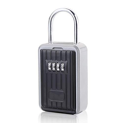 XXLYY SchlüSselspeicher Versteckte Organizer Boxen Geheime Wandmontage VorhäNgeschloss Mit 4-Stelliger Zahlenkombination Passwort-Code-Sperre Sicherheitssafe Diebstahlsicherung - Passwort-organizer Elektronische