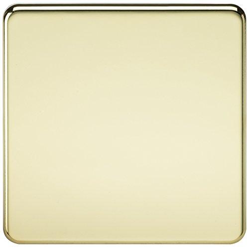 Knightsbridge SF8350PB - 1modulo senza viti piastra di copertura - ottone lucido