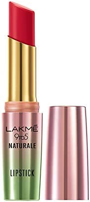 Lakme 9to5 Naturale Matte Lipstick, Flaming Red, 3.6 g