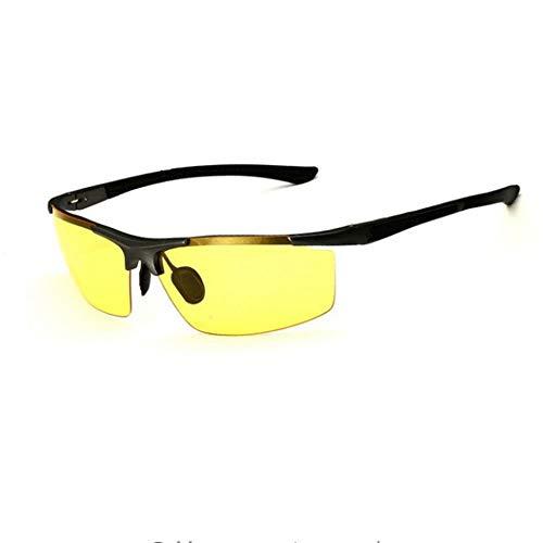 ZHOUYF Sonnenbrille Fahrerbrille Aluminium Magnesium Herren Sonnenbrille Polarisierte Beschichtung Spiegel Sonnenbrille Brille Herrenbrille Zubehör Männer, B