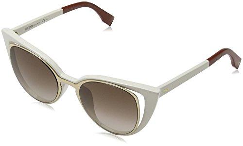 Fendi ff 0136/s, occhiali da sole donna, nero (gold), 51