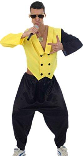 erdbeerloft - Herren 80er Jahre Rap King, Kostüm, Karneval, S, Gelb-Schwarz (Gute Achtziger Jahre Kostüme)