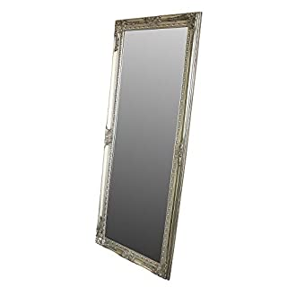 Melody Maison Large Ornate Silver Wall/Floor Mirror 176cm x 76cm