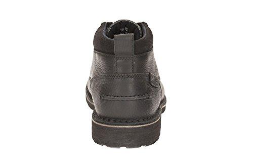 Clarks Détente Homme Boots/Bottes Lawes Top En Cuir Noir Black