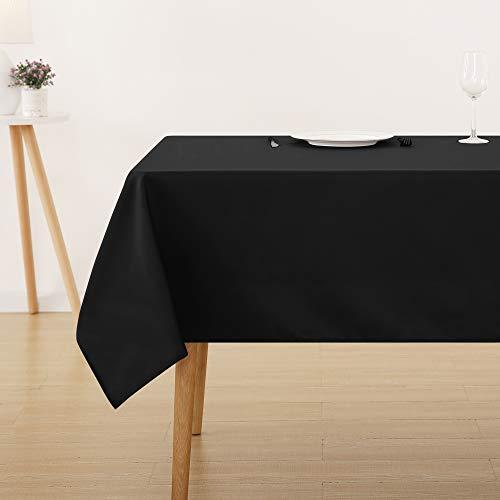 Deconovo Nappe Carré Imperméable pour Cuisine 150x150cm Noir