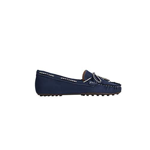 Parfois - Zapatos Tacón Bajo Mocassin Navy - Mujeres