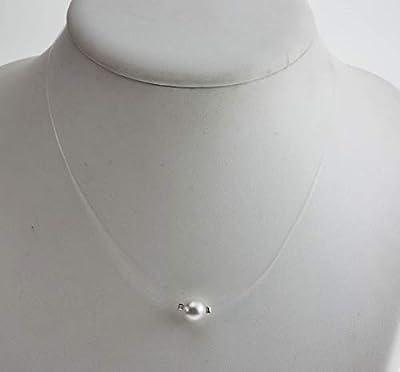 Collier puce blanc nacré - En cristal de swarovski - Collier mariée - Bijoux mariage