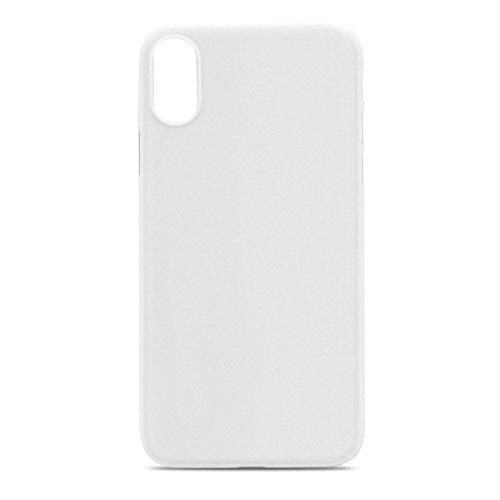 springpear® per iPhone X Custodia protettiva opaca caso anti impronte digitali Back Cover Custodia Case Cover Anti Impronte digitali custodia cellulare cover custodia rigida bianco