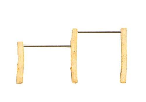 b+t R90120ROBS Doppelreck/ mit Stahlankern / Robinie/ H: 90/120cm