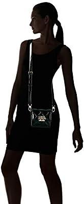 Guess - Status, Shoppers y bolsos de hombro Mujer, Negro (Black Shine/Bks), 18x14.5x8 cm (W x H L) de Guess