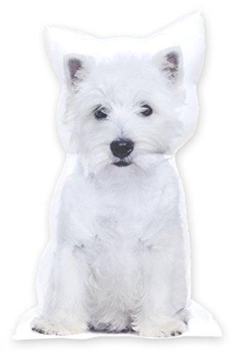 Dekokissen Hund Westie, Zierkissen mit Motivdruck ca. 64 cm