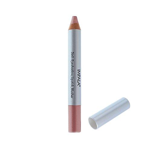 Impala Crayon Exclusif Jumbo 3 en 1 N07 Rose Yeux Lèvres Fard Tenue Longue