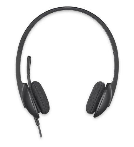 Logitech H340 - Auriculares de diadema cerrados (con micrófono), color negro