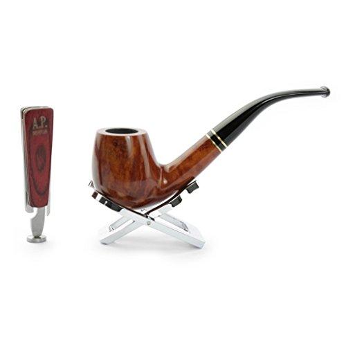 A.P. Donovan - set tabacco da pipa fatta di radica di legno - a mano - colore può variare (con fischio-vetro), per i filtri 9mm e intenditori - Huracán