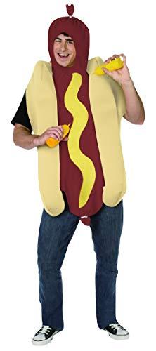 Generique - Hot-Dog-Kostüm für Erwachsene Einheitsgröße (Dog-kostüm Für Erwachsene)